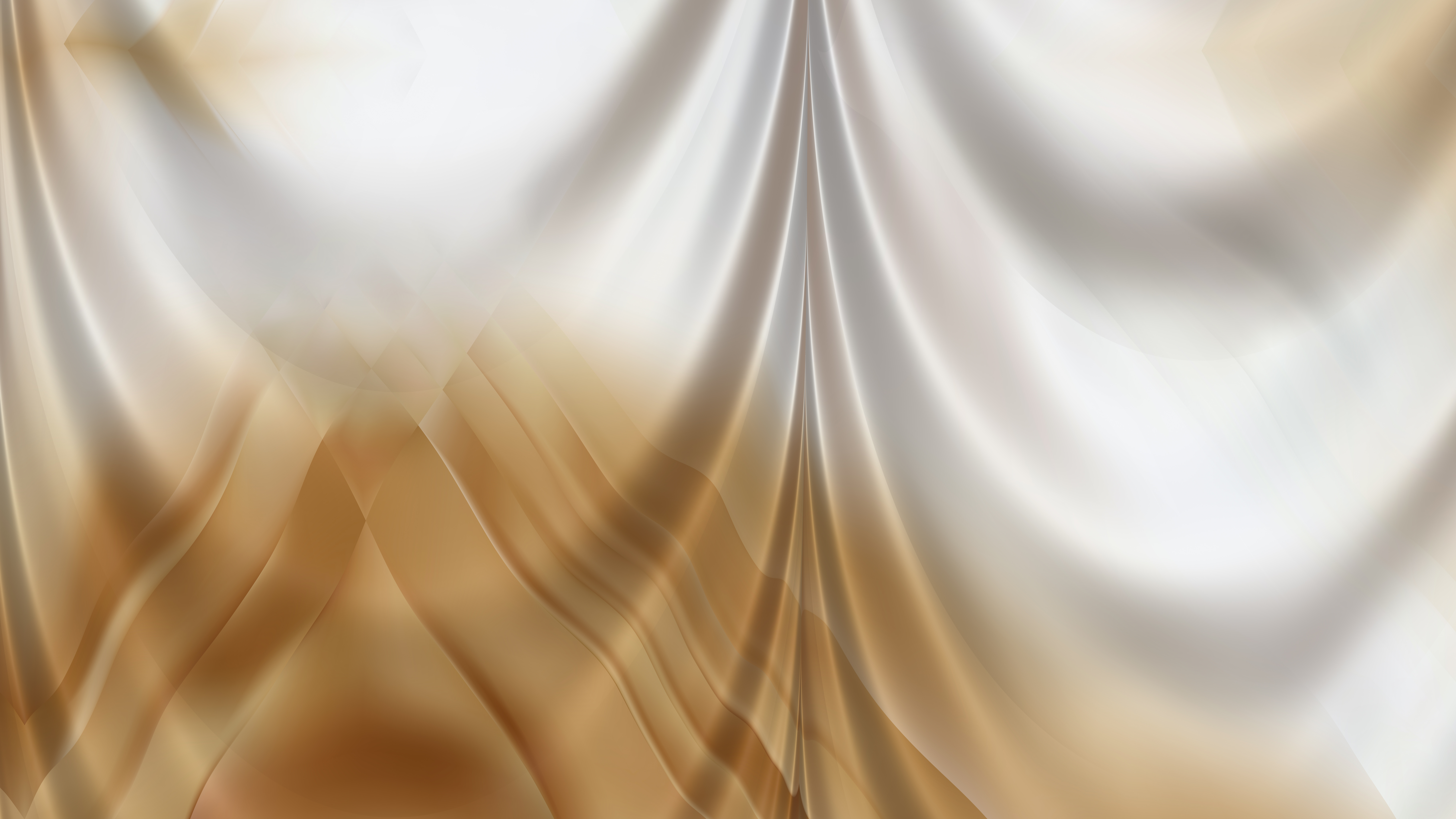 Abstract Brown and White Silk Drapery Textile Background