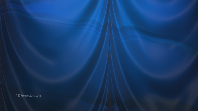 Abstract Dark Blue Satin Drapes