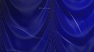Abstract Dark Blue Satin Drapery Textile Background