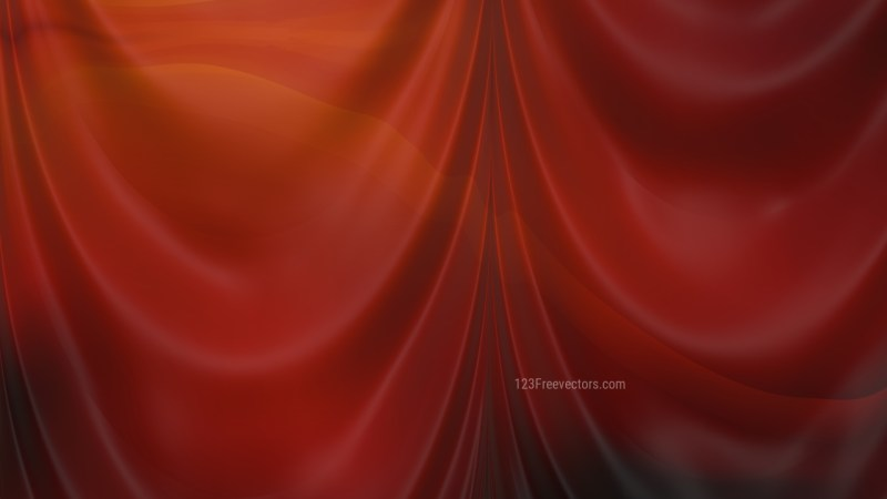 Abstract Dark Red Silk Drapery Background