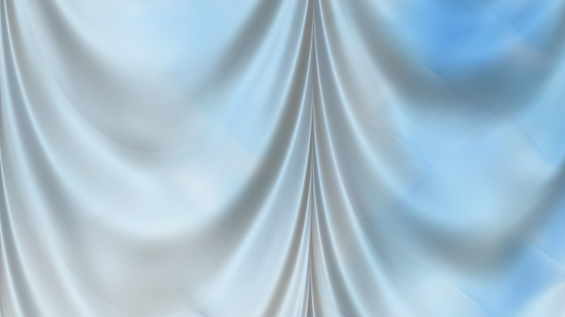 Abstract Light Blue Silk Curtain Background