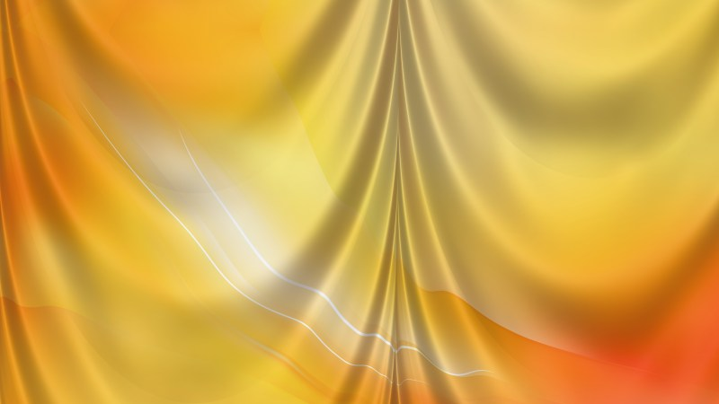 Abstract Orange Drapes Background