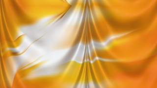 Abstract Orange and White Silk Curtain Background