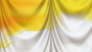 Abstract Orange and White Silk Drapery Background