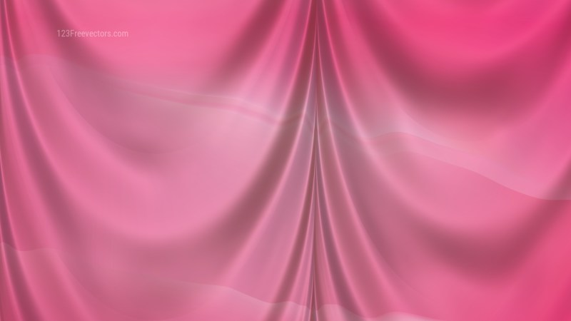 Abstract Pink Satin Curtain Background