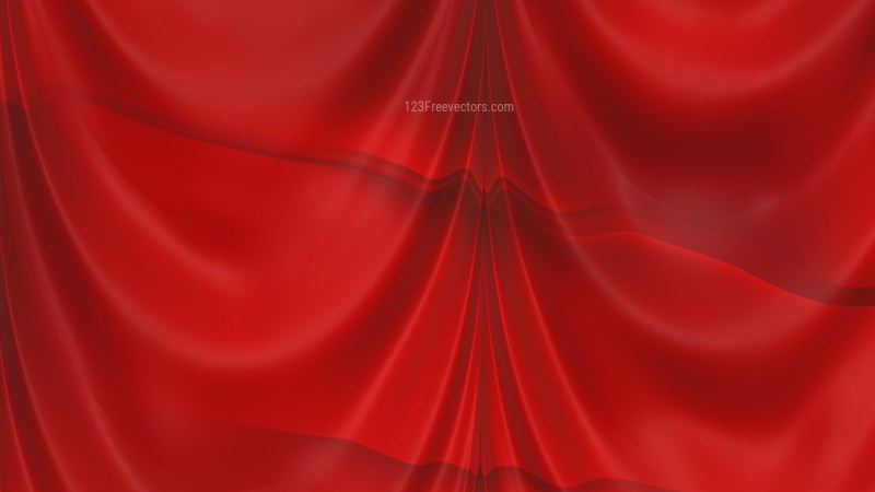 Abstract Red Silk Drapes Background