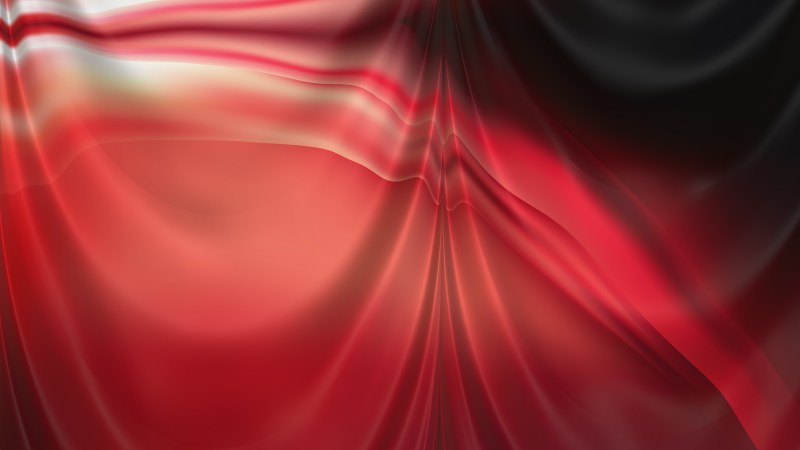 Abstract Red and Black Silk Curtain Background Texture