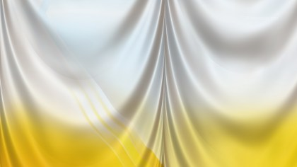 Abstract Yellow and White Silk Curtain Background Texture