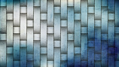 Blue and Grey Woven Bamboo Texture