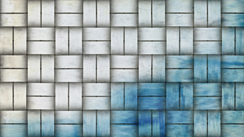 Blue and White Basket Background