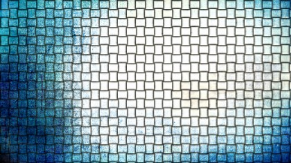 Blue and White Basket Weave Background