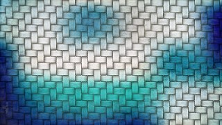 Blue and White Wicker Texture Background