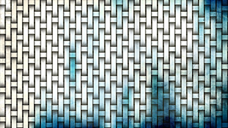 Blue and White Woven Basket Texture