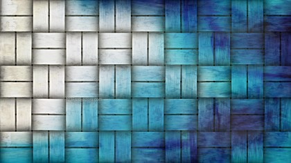Blue and White Weave Rattan Texture Background