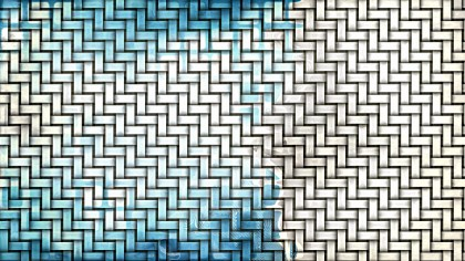 Blue and White Basket Twill Texture