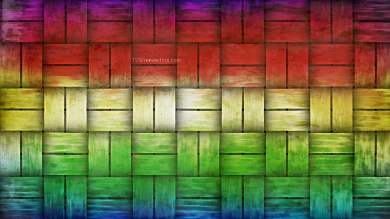 Colorful Woven Basket Texture Background