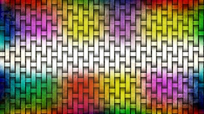 Colorful Wicker Basket Background