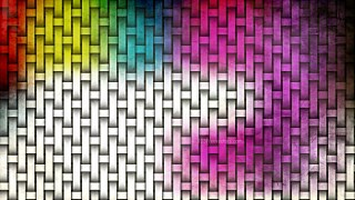 Colorful Woven Bamboo Texture