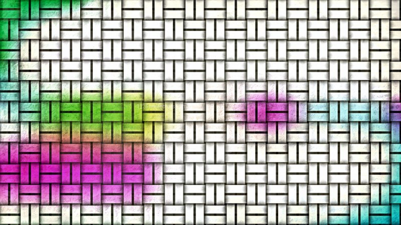 Colorful Wicker Background