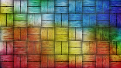 Colorful Wicker Twill Weave Background