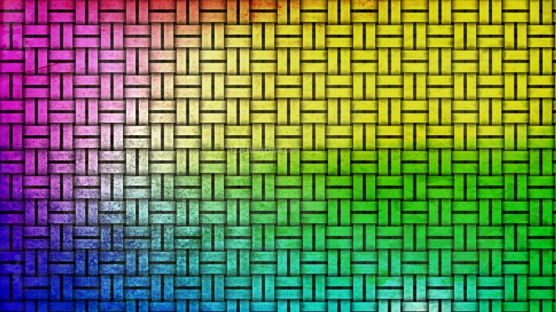 Colorful Bamboo Weave Background