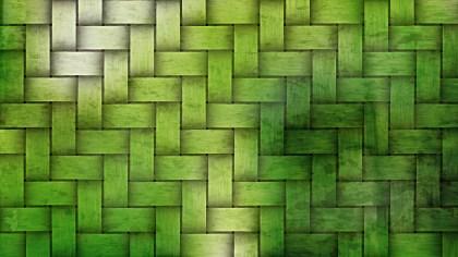 Dark Green Bamboo Weave Texture