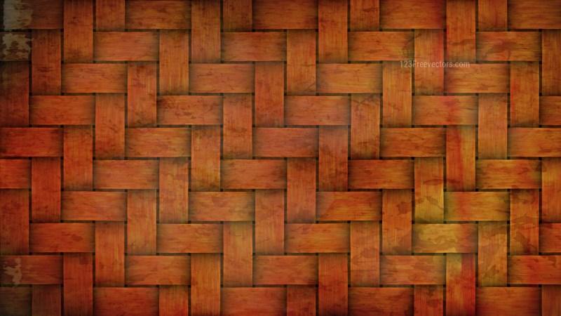 Dark Orange Basket Weave Background