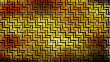Dark Orange Woven Bamboo Texture