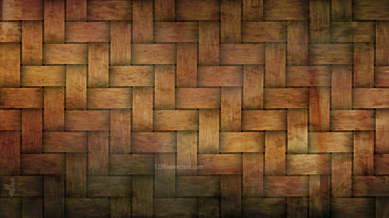 Dark Orange Bamboo Weave Texture