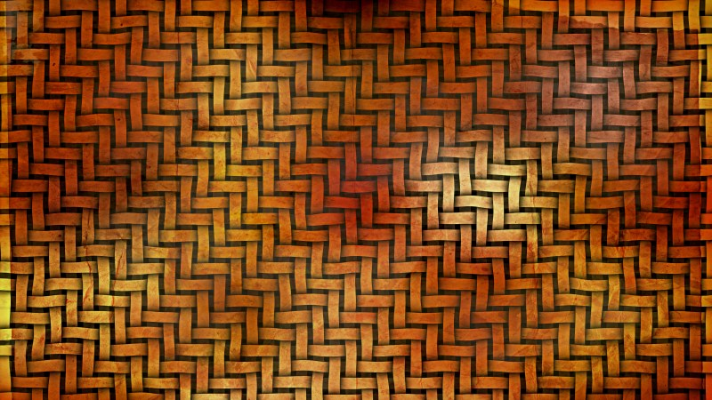 Dark Orange Basket Texture Background