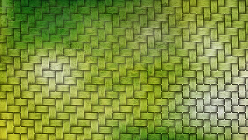 Green Bamboo Weave Background Texture