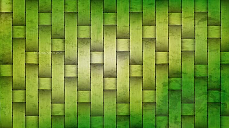 Green Wicker Twill Weave Background Texture