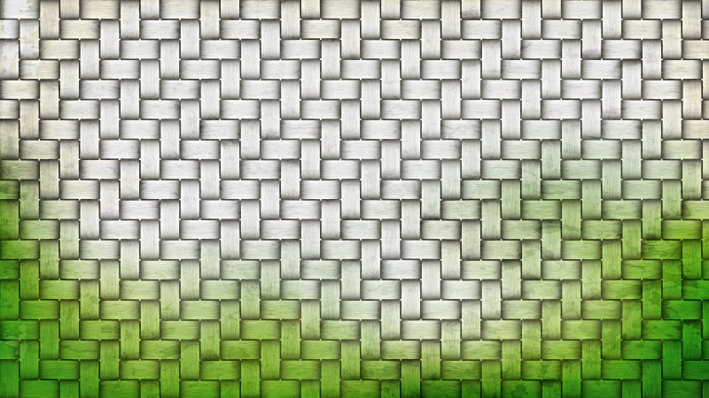 Green and White Basket Twill Texture Background