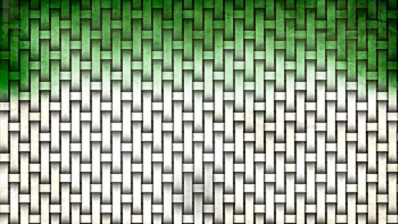 Green and White Woven Basket Twill Texture