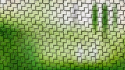 Green and White Wicker Twill Weave Background