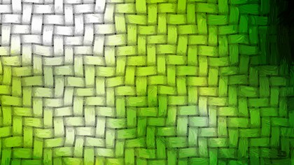 Green and White Weave Texture