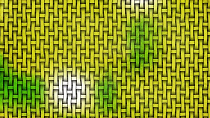 Green and Yellow Woven Basket Twill background