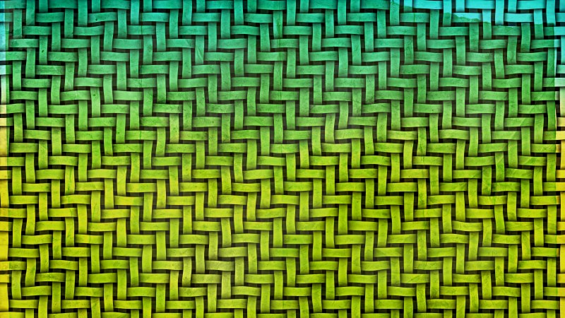 Green and Yellow Woven Basket Twill Texture