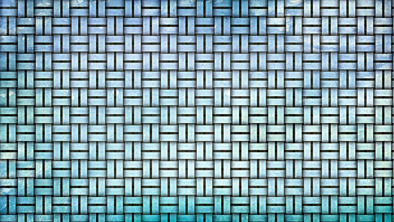 Light Blue Wicker Basket Background