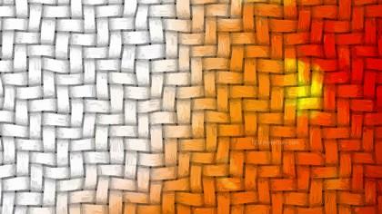 Orange and White Bamboo Weave Background