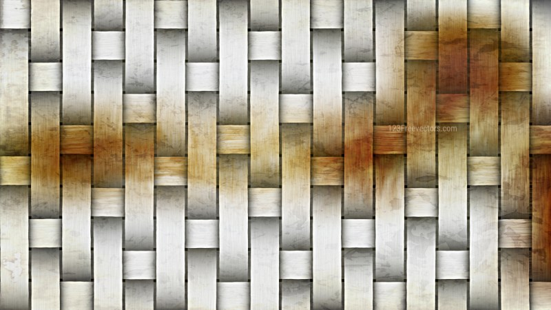 Orange and White Woven Bamboo Texture