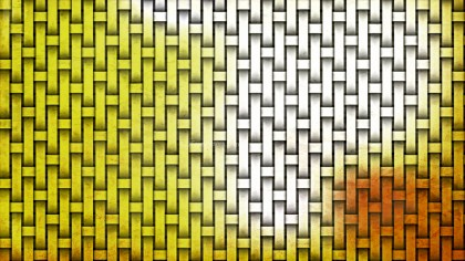 Orange and White Bamboo Weave Background Texture