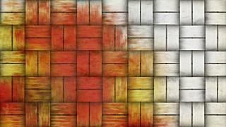 Orange and White Basket Weave Texture