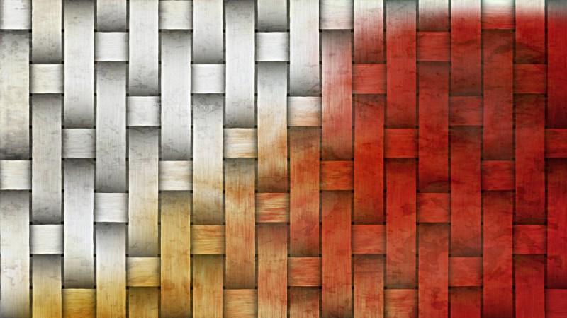 Orange and White Woven Basket Texture