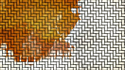Orange and White Weave Rattan Texture Background