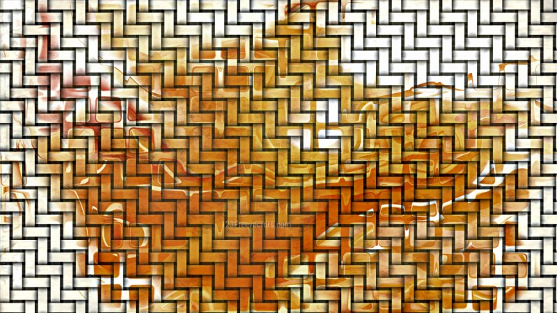 Orange and White Woven Basket Twill background