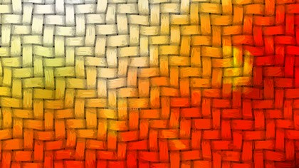 Orange and White Basket Twill Texture Background