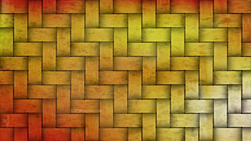 Orange and Yellow Bamboo Weave Background
