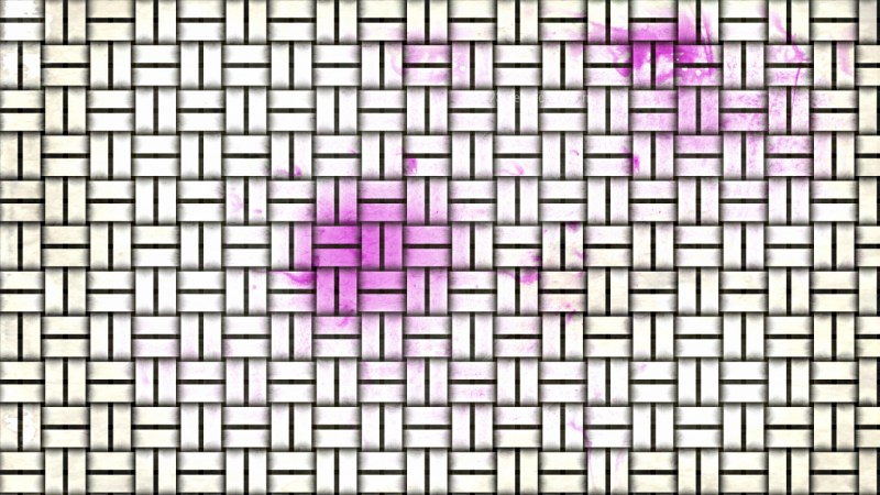 Pink and White Wicker Twill Weave Background