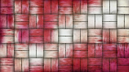 Pink and White Woven Basket Texture Background